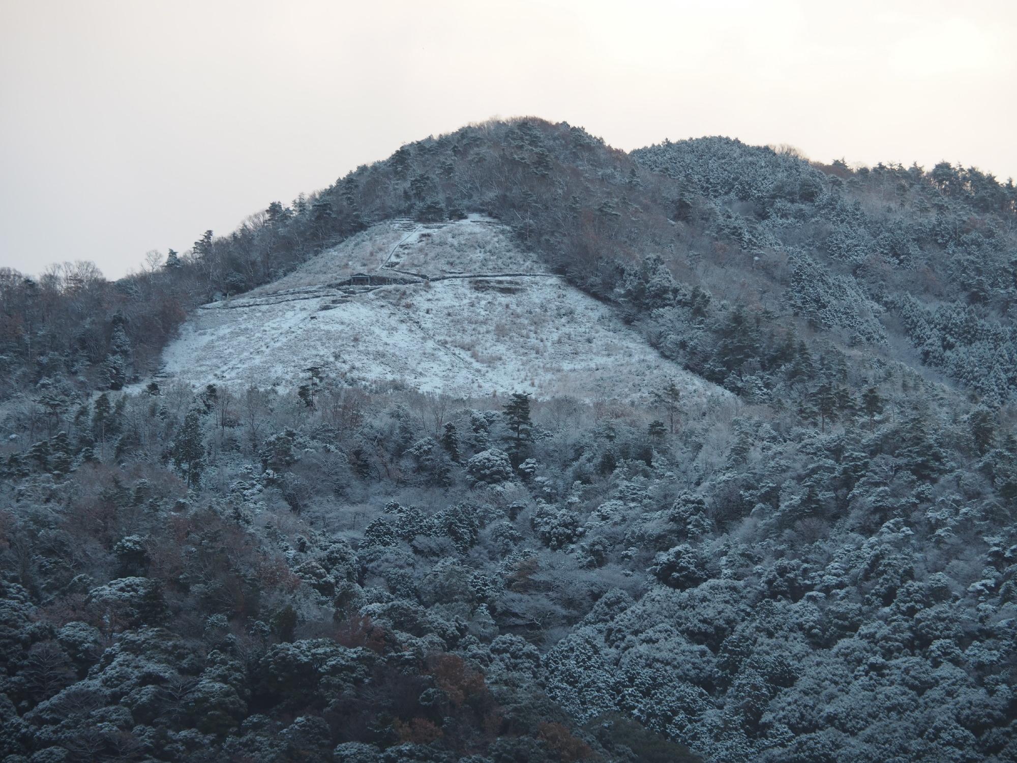初雪@如意ヶ岳